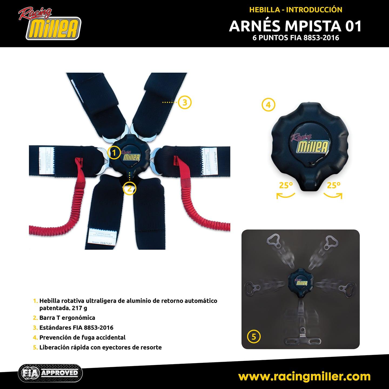 Arneses 6 Puntos FIA Racing Miller